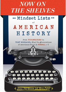 Now On The Shelves: Mindset Lists of American History