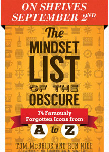 On shelves September 2014: The Mindset List of the Obscure